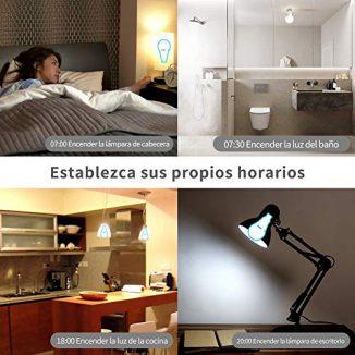 Bombilla Inteligente LED WiFi Lámpara ANOOPSYCHE Smart Bulb E27 9W 2700K-6500K 800LM Equivalente 60W Bombilla Luz Blanca Cálida a Fría Regulable, Trabajar con Alexa y Google Home No Requiere Hub 1 Pack
