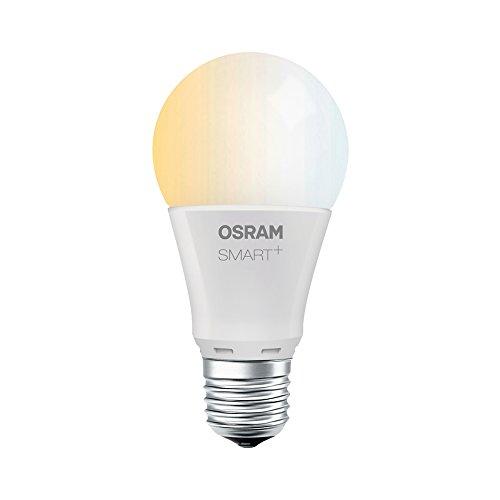 Osram Smart + LED, lámpara ZigBee con base E27, de blanco cálido a luz diurna (2700K – 6500K), regulable, 8.5W = 60W