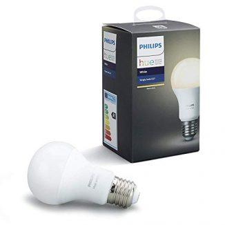 Philips Hue White – Bombilla LED E27 Individual, 9.5 W, Iluminación Inteligente, Luz Blanca Cálida Regulable, Compatible con Amazon Alexa, Apple Homekit y Google Assistant)