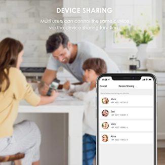 Enchufe Inteligente Wifi TECKIN Inalámbrico Smart Mini Monitor de Energía del Zócalo del Interruptor Compatible con Alexa Echo Google Asistente no se requiere Hub con Control Remoto