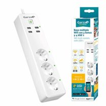 Garza Smart Multi socket Regleta Wifi Alexa, 66 x 265 x 40mm, Blanco